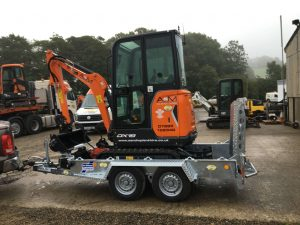 mini digger for sale wales