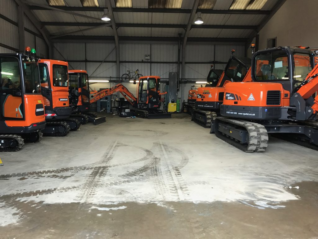 doosan excavators for sale in wales