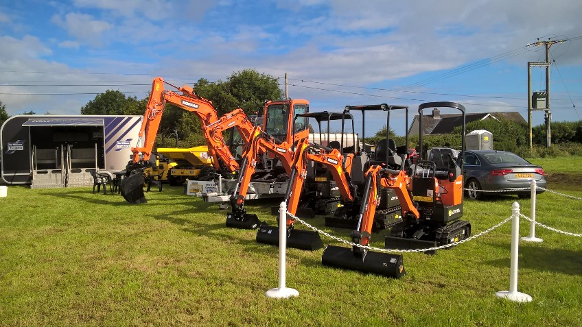 Doosan excavators at fishguard show