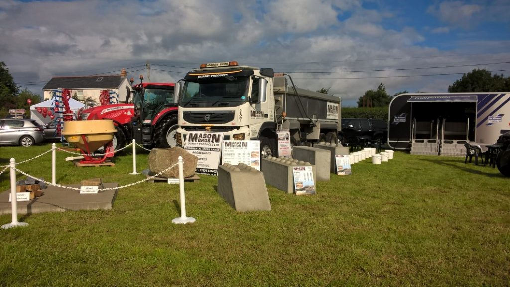 Mason Bros Quarry Products at Fishguard Show
