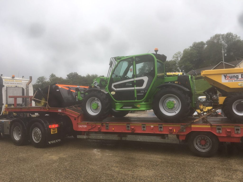 new plant machinery leaving mason bros in wales