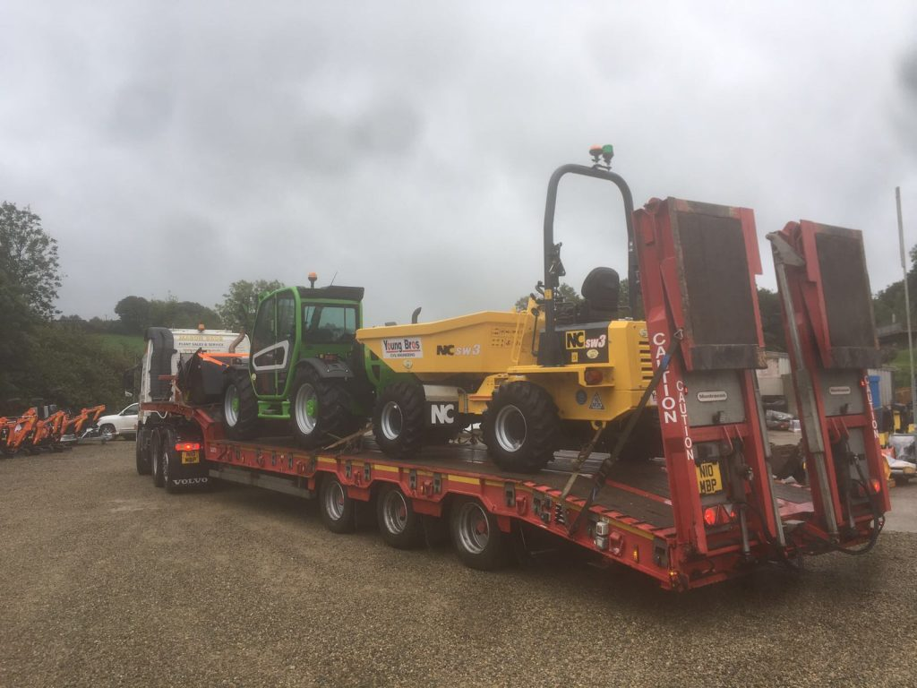 new plant machinery loaded up for delivery at mason bros