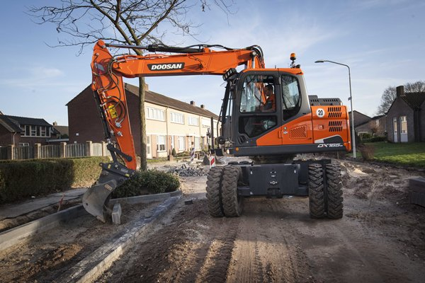 doosan dx165w wheeled excavator