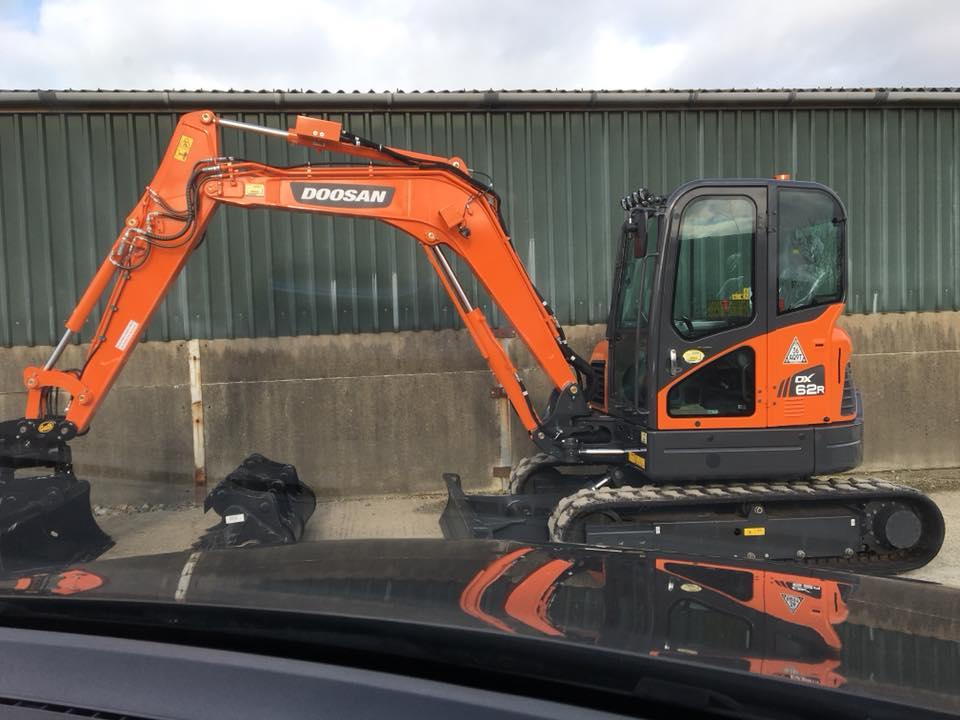 new doosan excavator with femac flail