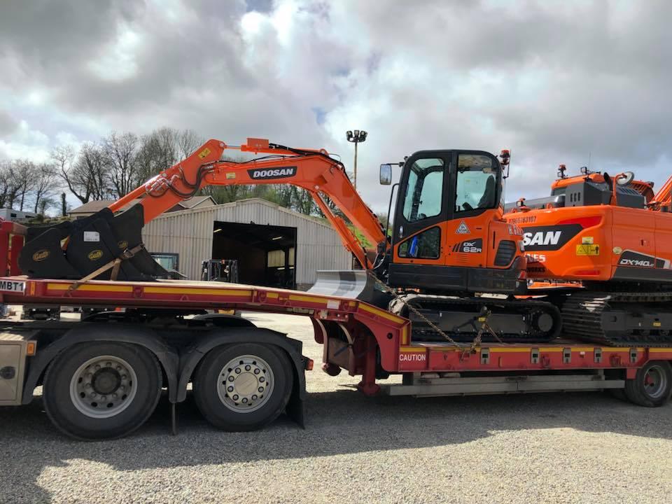 two new doosan excavators from mason bros