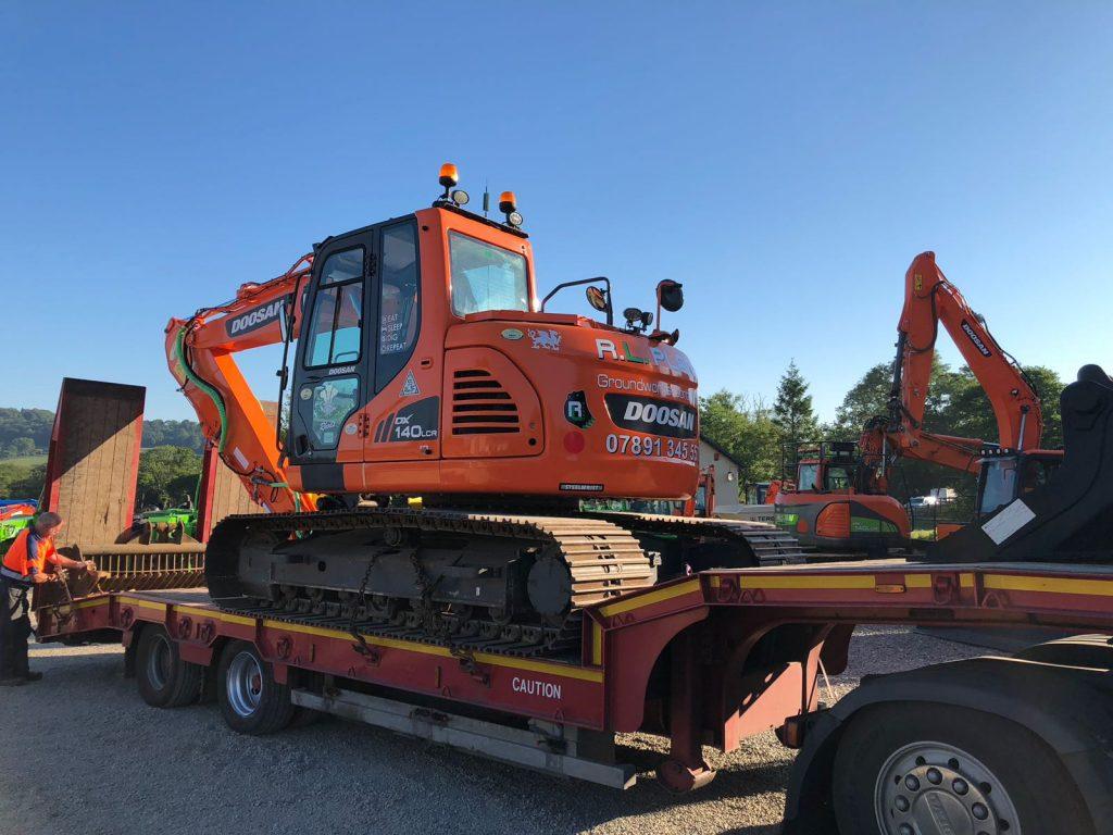 new doosan dx140 excavator with steelwrist