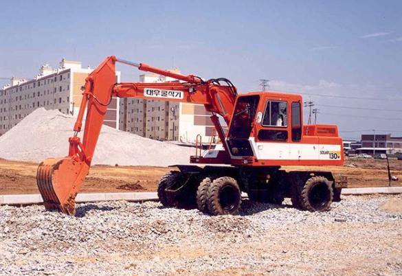 old doosan excavator
