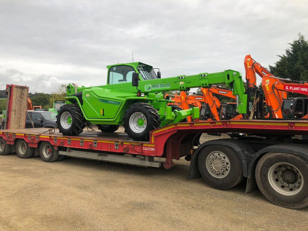 new merlo telehandler loaded at mason bros