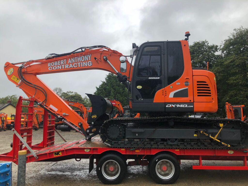new doosan dx140LCR-5 excavator