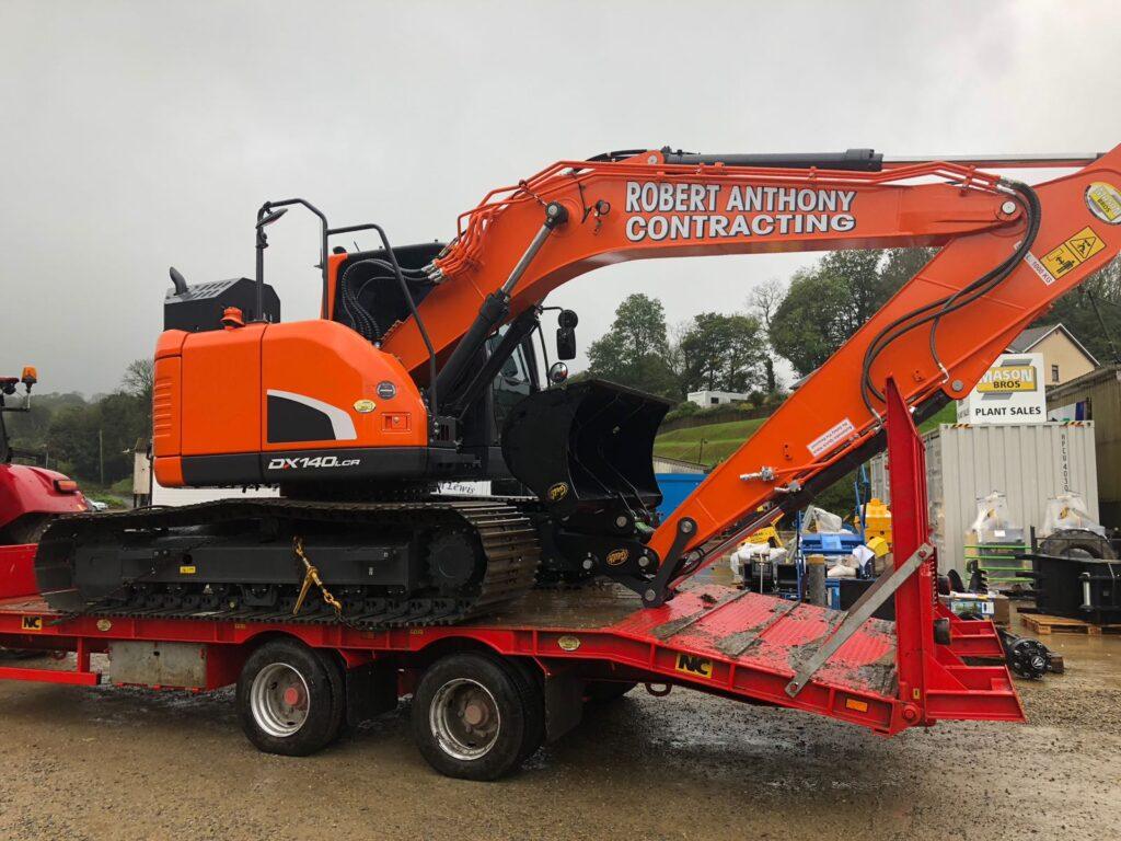 New Doosan DX140 excavator at mason bros
