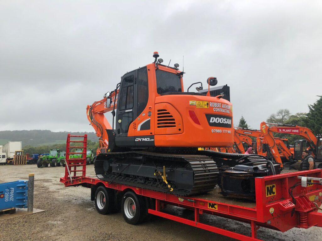 new doosan dx140 machine at mason bros