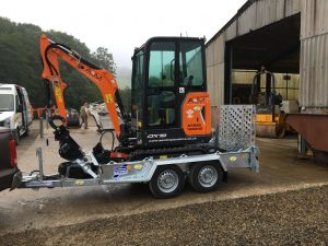 Doosan DX19 mini excavator