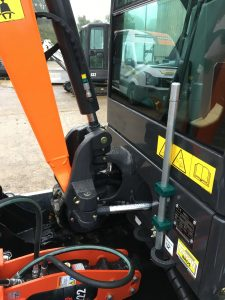 doosan dx19 complete with rammer breaker