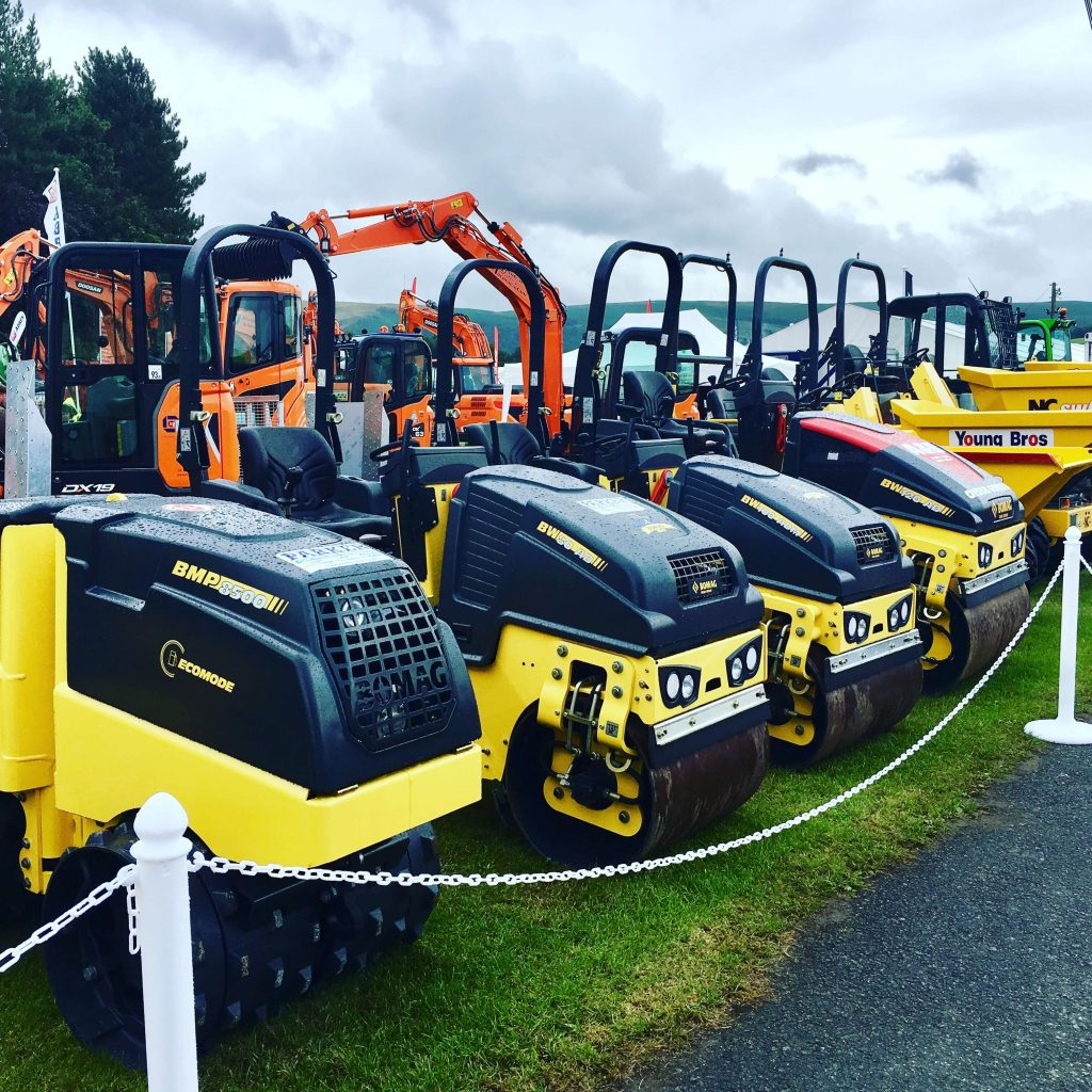 bomag rollers at royal welsh show