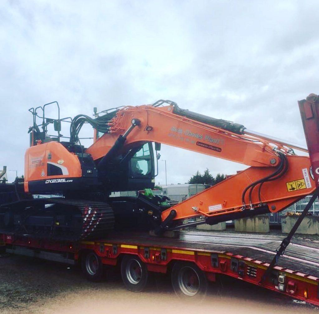 doosan excavator for andy davies plant