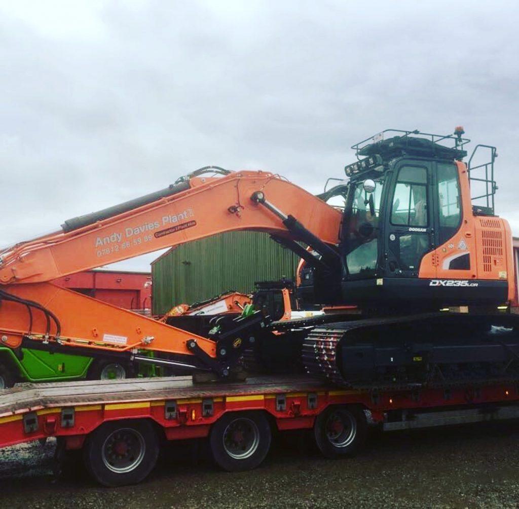 new doosan track excavator from mason bros