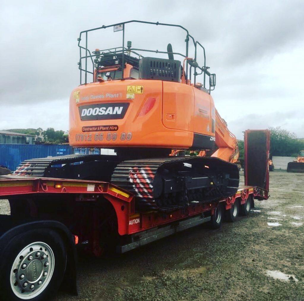 new doosan crawler excavator south wales