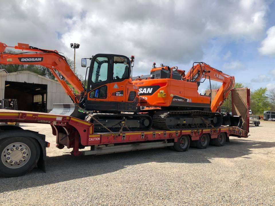 DX62r and DX140 doosan excavators