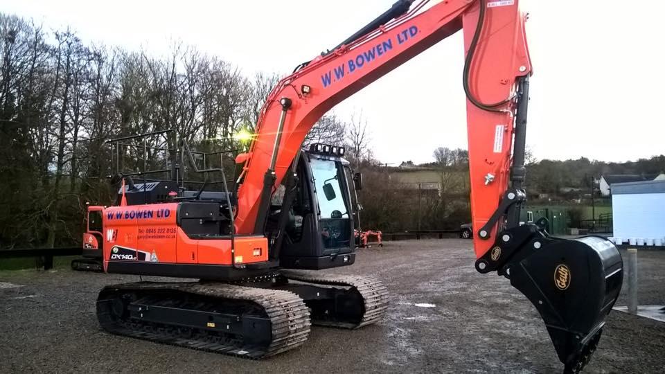 doosan dx140 14 ton excavator