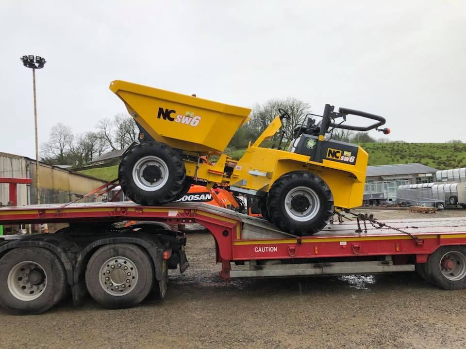 new nc engineering 6 ton site dumper