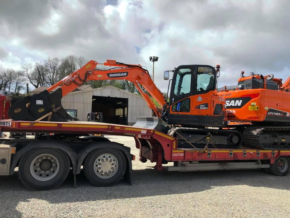 two new doosan excavators from mason bros