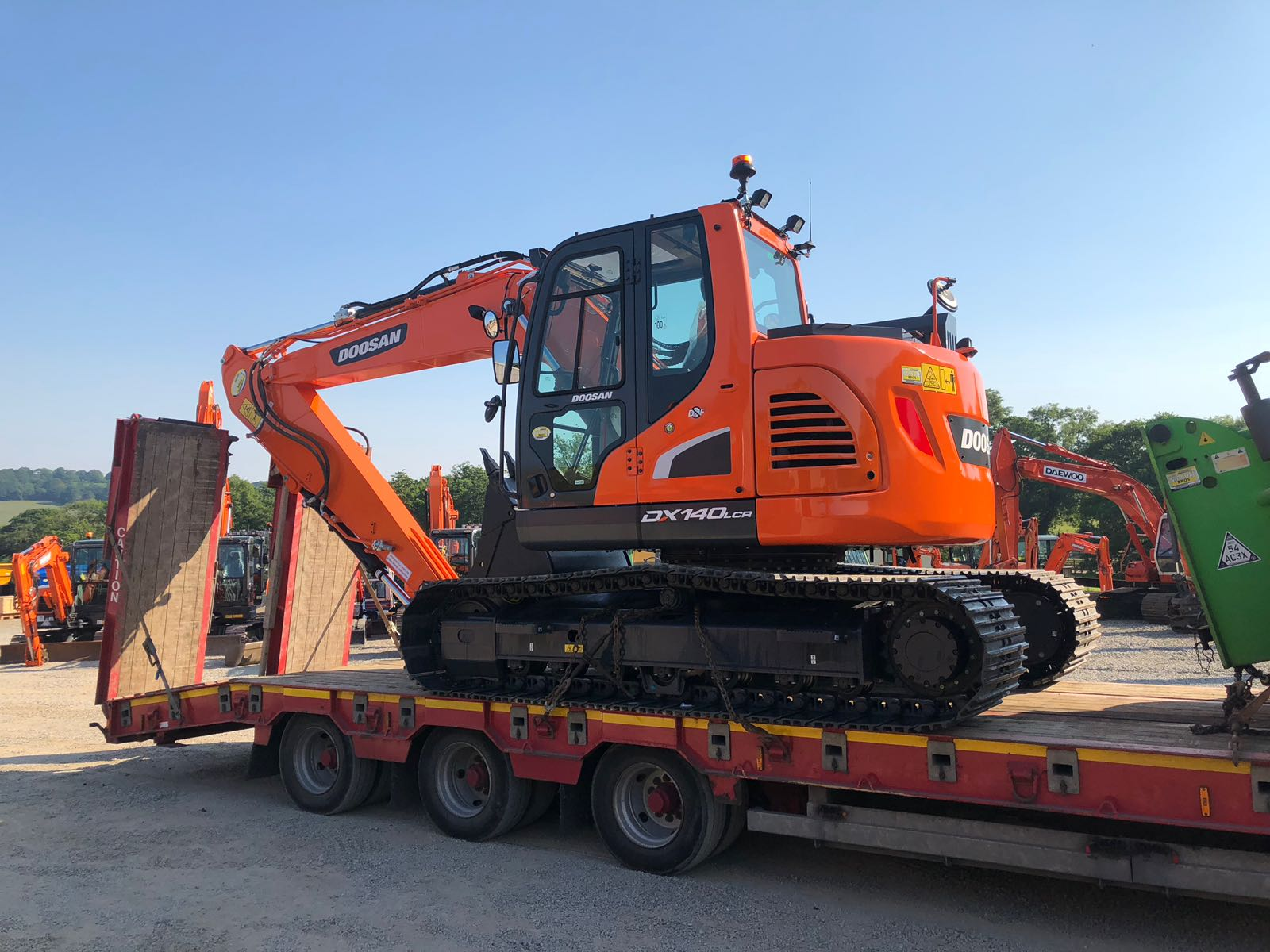 a new 14 ton doosan excavator sold from mason bros south wales