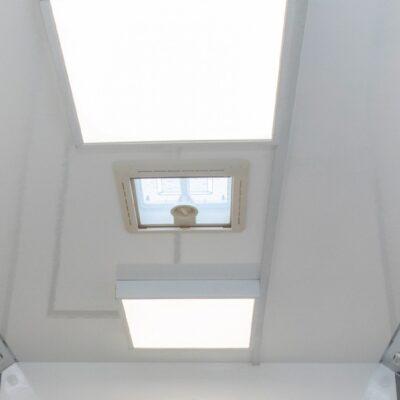 12V Wall Lights, 230V Ceiling Lights and Rooflights Providing Natural Light and Ventilation