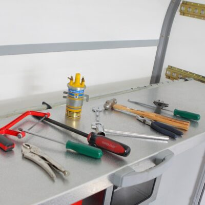 Hinged Workbench and Tyre Rack